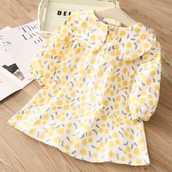 Seashells Kids - Kids Long-Sleeve Printed A-Line Dress