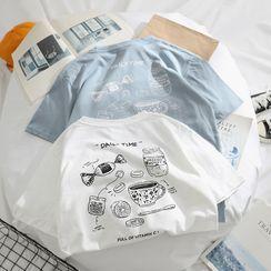 OSIGRANDI - Food Print Short-Sleeve T-Shirt