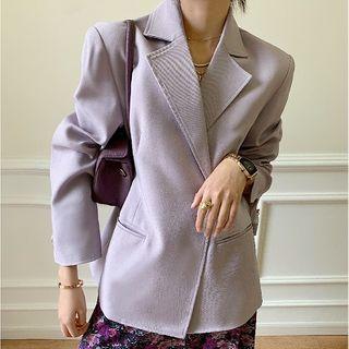 Kandice - Plain Single-Button Blazer