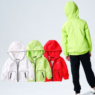 Happy Go Lucky - Kids Hooded Zip Jacket