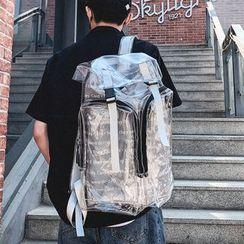 SUNMAN - 套装: 透明背包 + 小袋