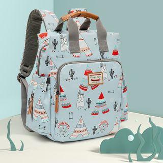 BAUQBAU - Bear Print Nylon Diaper Backpack