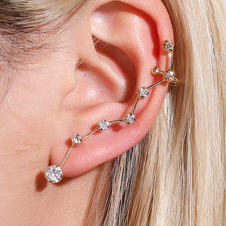 Cheermo - Rhinestone Stud Ear Cuff