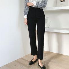Cherryville(チェリーヴィレ) - Flat-Front Straight-Cut Pants