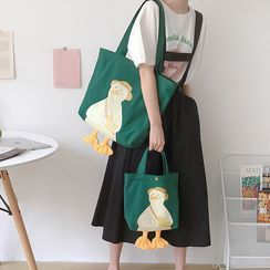 Sacculi(サックリ) - Duck Print Canvas Tote Bag