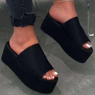 Weiya - Platform Slide Sandals