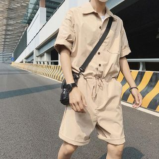 Breeson - Cargo Short-Sleeve Jumpsuit