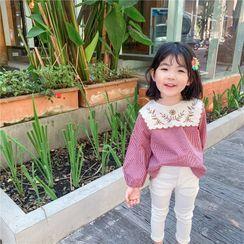 Cerula - 小童繡花格子襯衫