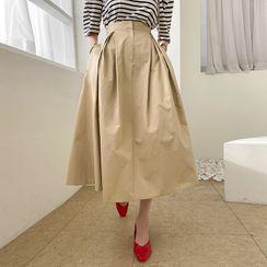 DABAGIRL - Zip-Fly A-Line Maxi Skirt