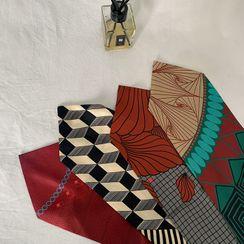 DABAGIRL - Patterned Silk Scarf