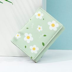 Taomicmic - Faux Leather Floral Print Short Wallet