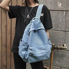 Szeta - 饰口袋牛仔背包