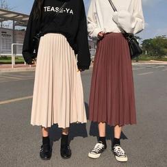 JIUHOJI - Midi Accordion Pleat Skirt