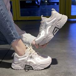 Shanhoo - Reflective Chunky Sneakers