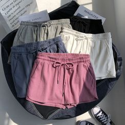 Iduna - 纯色抽绳运动短裤