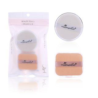 Togtto - 两件套装: 化妆粉扑 + 洁面绵