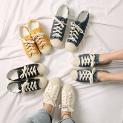 Wifky - Couple Backless Canvas Sneakers
