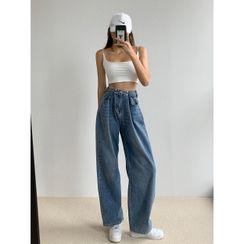 Shira - 高腰闊腿牛仔褲