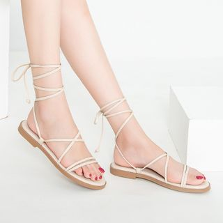 TEAHOO - Lace-Up Roman Sandals