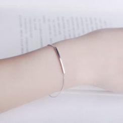 Jiniro - 925 Sterling Silver Bar Bracelet