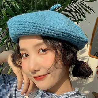 Pompabee - Plain Knit Beret Hat