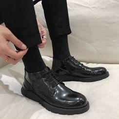 VEAZ - Genuine Leather Platform Lace-Up Shoes