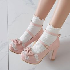 Shoes Galore - Chunky-Heel Pumps