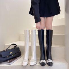 Chryse - 仿珍珠長靴