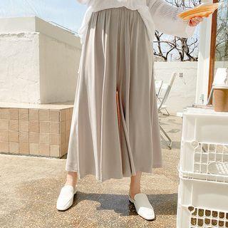 Seoul Fashion(ソウルファッション) - Band-Waist Flared Culottes