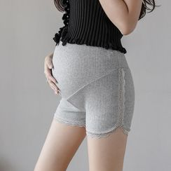 Empressa - Maternity Lace Trim Shorts