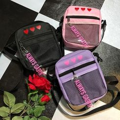 Beamie - Heart Print Crossbody Bag