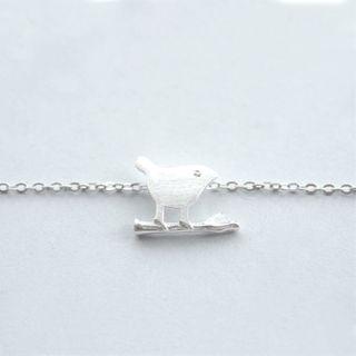 Jubby - 925纯银鸟吊坠项链