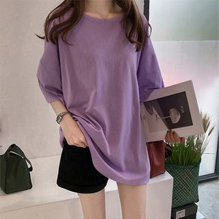XGZ - Oversized Elbow-Sleeve T-Shirt