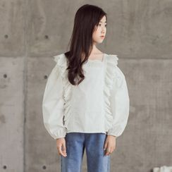 Cuckoo - Kids Long-Sleeve Ruffle Blouse
