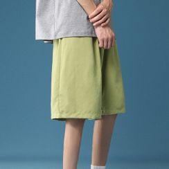 Phoneus - Plain Straight Leg Sweatshorts
