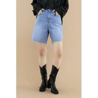 SIMPLY MOOD - Distressed Denim Shorts