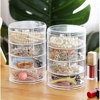 Lazy Corner - Layered Transparent Jewelry Storage Box