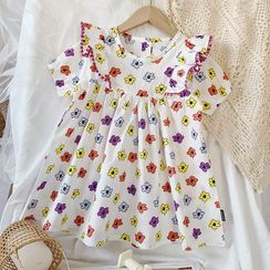 BobaBop - Kids Short-Sleeve Floral Print Dress