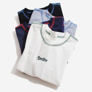 Happy Go Lucky - Kids Long-Sleeve Lettering T-Shirt