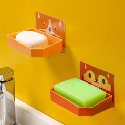 Yulu - 塑胶动物印花胶墙肥皂架