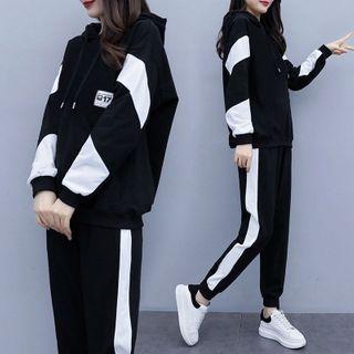 Carmenta - 套裝: 雙色調連帽衫 + 運動褲