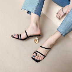 Kireina - Toe Loop High Ball Heel Sandals