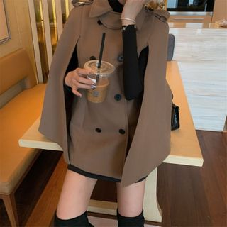 Ginger Girl - Double-Breasted Cape Jacket
