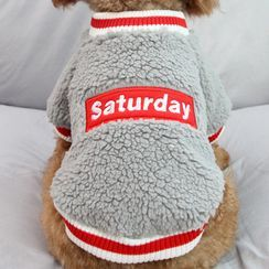 Salonga - Lettering Fleece Pet Top