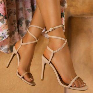 Shoesun - 纯色多带细高跟凉鞋