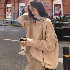 Montagnard - 純色高領毛衣