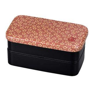 Hakoya - Hakoya Nunobari Rectangular 2 Layers Lunch Box S Sakura
