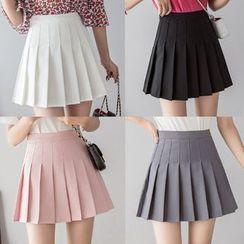 Gray House - Mini Pleated Skirt