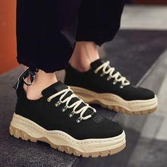 MARTUCCI - Canvas Lace-up Platform Sneakers