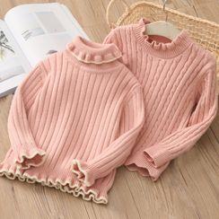 貝殼童裝 - 小童荷葉邊毛衣